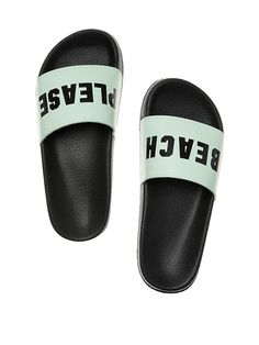 830002657e online shopping for Victoria s Secret Pink Slides Sheer Seafoam Glow Beach  Please Large from top store. See new offer for Victoria s Secret Pink  Slides ...