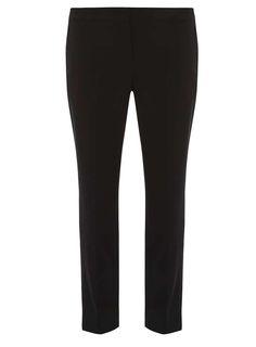 Dorothy Perkins Womens Black Straight Leg Trousers- Black Black straight leg trousers. The inside leg measures 76cm. 76% Polyester, 18% Viscose, 6% Elastane. Machine washable. http://www.MightGet.com/january-2017-13/dorothy-perkins-womens-black-straight-leg-trousers-black.asp