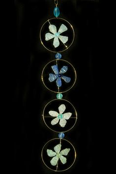 Sea Glass Flower Suncatcher in Colors of the Sea by oceansbounty, $20.00