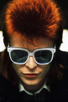 It's the hair in this image that fascinates me. David Bowie