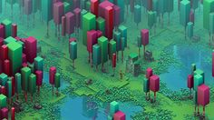 Really love this RPG-ish look of Isometric Swamp artwork by Calder Moore