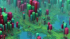 Really love this RPG-ish look of Isometric Swamp artwork by Calder Moore