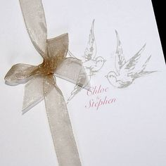 love birds wedding stationery by tigerlily wedding stationery | notonthehighstreet.com