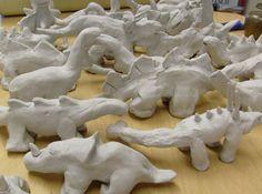 clay dinos