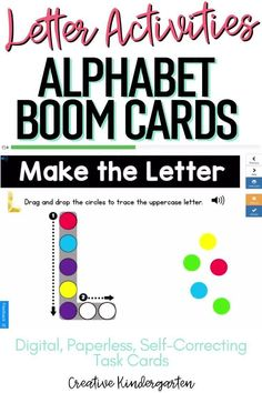 Reinforce uppercase and lowercase letter recognition, letter formation, and letter sounds with hands-on and engaging Boom Card activities. These digital task cards will work on learning to identify and name the letter Q. Use this deck for letter of the day, letter of the week or all year to reinforce alphabet knowledge.This pack includes activities for uppercase and lowercase letters, letter discrimination, letter sounds, letter building, and sorting. Kindergarten Centers, Math Centers, Alphabet Activities, Kindergarten Activities, Alphabet Writing, Letter Formation, Uppercase And Lowercase Letters, Literacy Skills, Letter Recognition