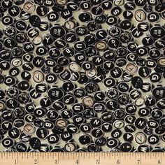 Vintage Gadgets Allover Typewriter Sage Green from @fabricdotcom  Designed for Exclusively Quilters, this cotton print fabric is perfect for quilting, apparel, and home decor accents. Colors include black, cream, white. shades of brown, shades of grey, and shades of green.