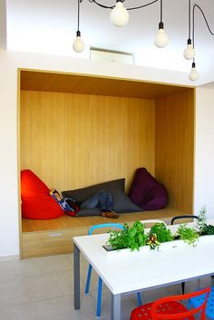 office with smart nook to relax and break