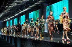 Europe Fashion Men's And Women Wears......: MIUCCIA PRADA CREATES A MULTIMEDIA FASHION COLLAGE...