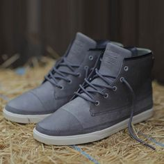 Chambers Charcoal Leather gray, clae, men's shop