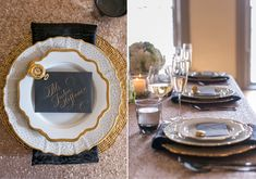 Look at that table setting @vlove1025 !! Weird!!!!!  Onyx and honey wedding ideas