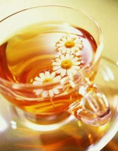 Chamomile tea - grow your own chamomile, make tea from the blossoms, decorate it with a few pretty blossoms and then sip it quietly and go to sleep.