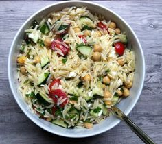 Summer Orzo Pasta Salad - A Cedar Spoon