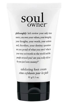 philosophy 'soul owner' foot cream available at #Nordstrom