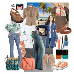 Tropical Vacation by liquidt13 on Polyvore featuring polyvore, fashion, style, FABIANA FILIPPI, Michael Stars, IRIS VON ARNIM, Hudson Jeans, Candie's, T KEES, Converse, Kelly & Katie, FOSSIL, MOOD, Pieces, Simon Sebbag, Vero Moda, Woolrich, Christian Dior, Lancôme, NARS Cosmetics, Revlon, Butter London, OPI and clothing