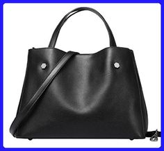 Evalent Women Genuine Leather 2 Piece Vintage Handbags Shoulder Handbag Tote  Top Handle Bag Cross Body 42927bfe1bb83