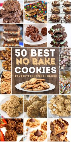Easy Cookie Recipes, Healthy Dessert Recipes, Sweet Recipes, Delicious Desserts, Fun Baking Recipes, Easy Recipes, Healthy Food, Easy Meals, Best No Bake Cookies