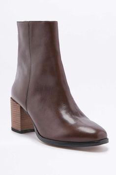Elisa Burgundy Leather Heeled Ankle Boots