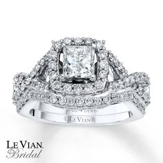 Le Vian Bridal Set 1 1/2 cts tw Diamonds 14K Vanilla Gold