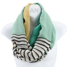 AN - Lightweight Nautical Striped Colorblock Infinity Circle Scarf Snood Loop (Mint) Accessory Necessary http://www.amazon.com/dp/B00JJU161E/ref=cm_sw_r_pi_dp_98K2tb1QFX37PJB5