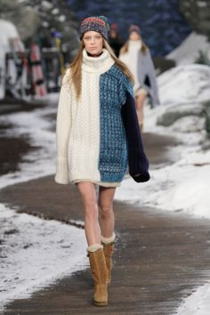 Tommy Hilfiger Fall 2014 Runway C/O wireimage Knit Fashion, Fashion Looks, Fashion Outfits, Fashion Ideas, Fashion Guide, Women's Fashion, Tommy Hilfiger Fashion, 2014 Trends, Western Dresses