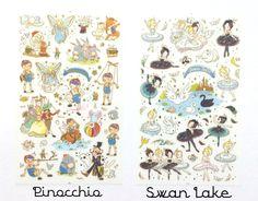 Vintage Disney Stickers 1 sheet by LittleSurpriseShoppe on Etsy