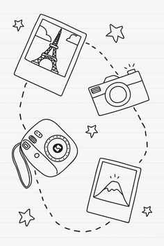 Easy Doodles Drawings, Cute Easy Drawings, Mini Drawings, Art Drawings Sketches Simple, Pencil Art Drawings, Simple Tumblr Drawings, Cute Easy Doodles, Cute Doodle Art, Doodle Art Designs