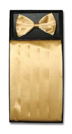 Cumberbund & BowTie GOLD YELLOW Men's Cummerbund & Bow Tie Set Vesuvio 8