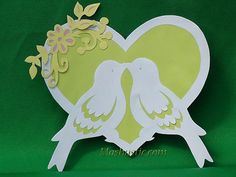 Paper heart with birds | Mashustic.com