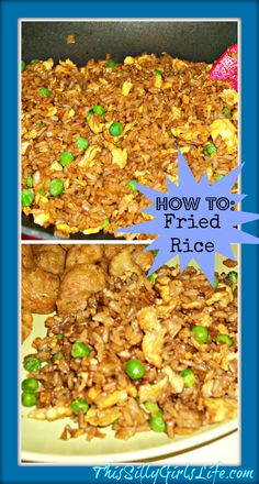 Last Night& Dinner: Fried Rice - This Silly Girl& Life Rice Recipes, Asian Recipes, Dinner Recipes, Cooking Recipes, Recipies, Chinese Recipes, I Love Food, Good Food, Yummy Food