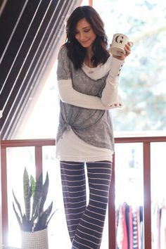 Mineral Grey Relaxed Top