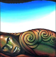 ©Theresa Reihana -   Maori   Art   Painting   Kowhaiwhai  