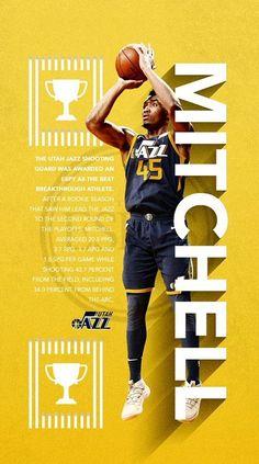 Basketball Art, Basketball Leagues, Basketball Players, Robinson, Donovan Mitchell, Shooting Guard, Sports Graphic Design, Sports Wallpapers, Sports Graphics
