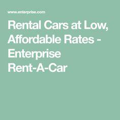 Rental Cars at Low, Affordable Rates - Enterprise Rent-A-Car