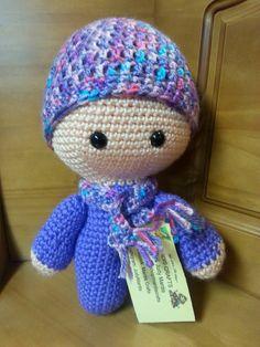 Handmade crochet Big Head Baby Doll by Mardiscrafts on Etsy