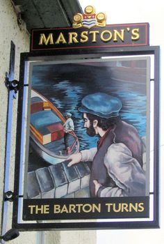 A selection of waterway-related pub signs from around the country.