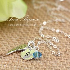 Excited to share the latest addition to my #etsy shop: Personalized Initial with Angel Wing Necklace, Hand Stamped Initial Necklace, Silver Angel Wing Necklace, Mother Necklace, Gift, N039 http://etsy.me/2D54vWu #jewelry #necklace #silver #blue #yes #springring #girls