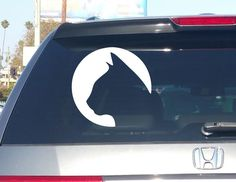 Cat Circle Silhouette Vinyl Decal Window Sticker Laptop Ipad iphone Wall Car Truck Motorcycle notebook macbook pro skateboard by Bizexpress on Etsy https://www.etsy.com/listing/474843208/cat-circle-silhouette-vinyl-decal-window
