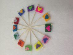 Mini felt flags by HeartFeltCraft1 on Etsy, £3.00
