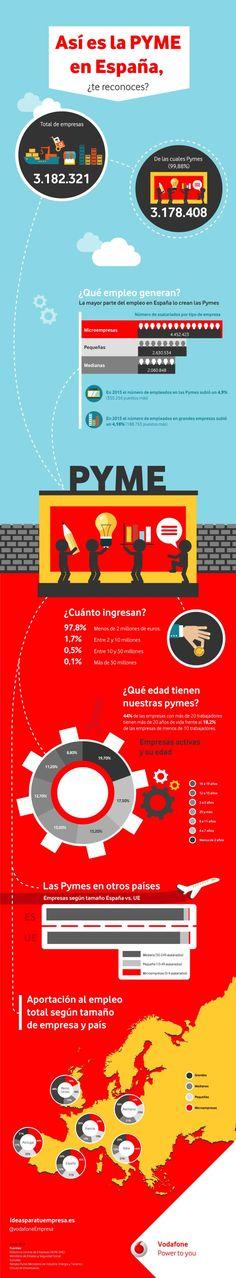 Infografía sobre como es la Pyme en España. #negocios #economia