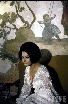 Sophia Loren at home, Rome, 1964