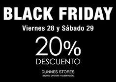 Hasta un 20% de descuento en Dunnes #BlackFriday #Malaga #shopping #EnFamilia
