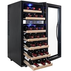 AKDY 21 Bottle Dual Zone Thermoelectric Freestanding Wine Cooler Cellar Chiller Refrigerator Fridge Quiet Operation with Wooden Shevles  Check It Out Now     $259.99     Note: This item is not available for SHIPPING TO AK, HI, and PR. OR APO.FPO.DPO.     Whether you use it as a count ..  http://www.appliancesforhome.top/2017/03/13/akdy-21-bottle-dual-zone-thermoelectric-freestanding-wine-cooler-cellar-chiller-refrigerator-fridge-quiet-operation-with-wooden-shevles/
