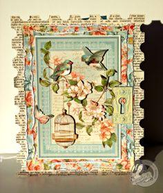 CHA 2013 - Graphic 45 Secret Garden Card - Scrapbook.com