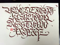 Fraktur alphabet with broad nib. Luca Barcellona 2014