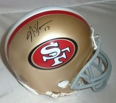 NaVorro Bowman Autographed San Francisco 49ers Riddell Mini Helmet by DenverAutographs. $49.99. This is San Francisco 49ers Riddell mini helmet personally autographed by Navarro Bowman. Drafted in the third round of the 2010 draft by the 49ers and immediately stepped into the starting role. Pairing with Patrick Willis the duo forms on the best pairs of inside linebackers in the NFL. This was signed at the GT Sprots Marketing sports card show in Santa Clara, CA...