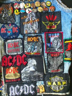 This is my Old Scruff Jacket from the Cool Jackets, Denim Jackets, Battle Jacket, Old Shirts, Biker Leather, Gothic Outfits, Back To Black, Rock N Roll, Heavy Metal