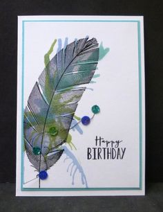 CAS222 TLC431 Blown Feather by hobbydujour - Cards and Paper Crafts at Splitcoaststampers