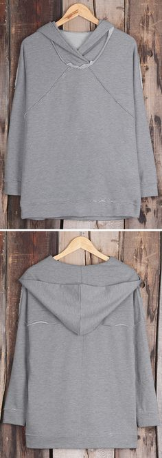 10% Off for pre-order! This grey hoodie features rough hem&soft fabric! If you're looking for a new fall staple, you'll go wild for the Hometown Girl Grey Hooded Sweatshirt!