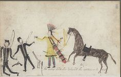 Collections Search Center, Smithsonian Institution. Anonymous Lakota or Cheyenne Drawing. 1876.