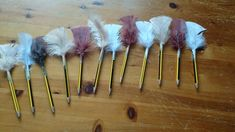 Pencil quills, ideal for inspiring writers in their medieval castle role play area :)